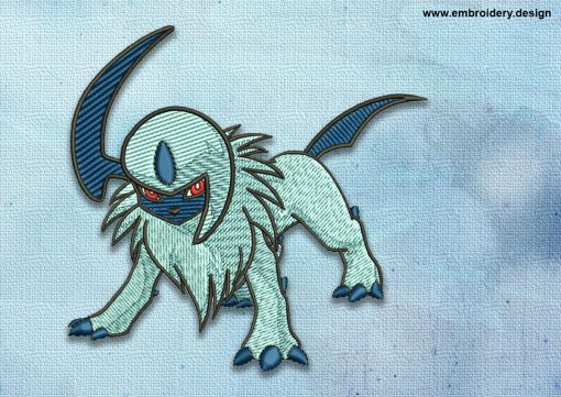 The embroidery design Absol Pokemon