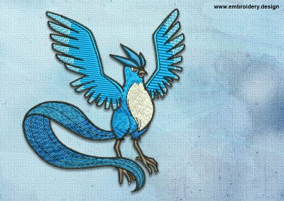 The embroidery design Articuno Pokemon