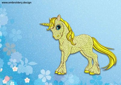 The embroidery design Baby Unicorn