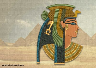 The embroidery design Beautiful Cleopatra