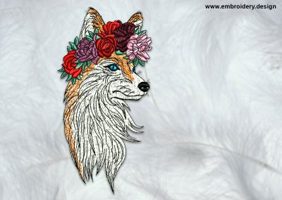 The high quality embroidery design Beautiful fox