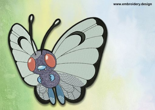 The embroidery design Butterfree Pokemon