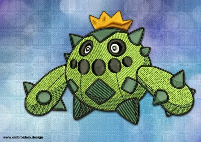 The embroidery design Cacnea Pokemon provides as digital zip.file