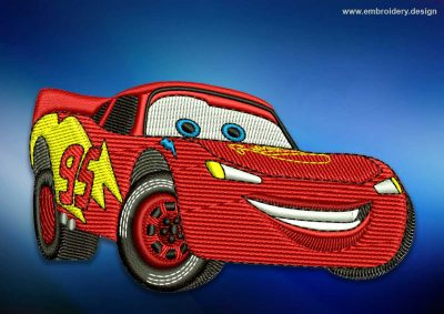 The embroidery design Car Mcqueen