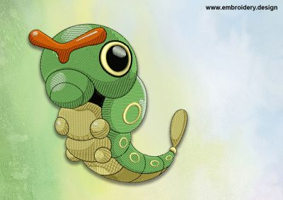 The embroidery design Caterpie Pokemon