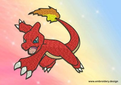 The embroidery design Charmeleon pokemon