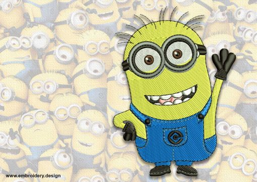 The embroidery design minion Cheerful Jerry
