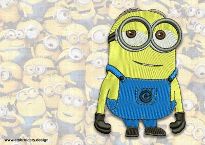 The embroidery design minion Clever Mark