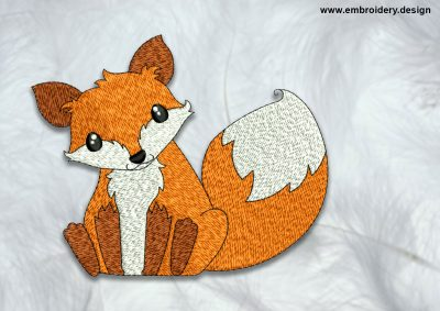 The high quality embroidery design Clever fox