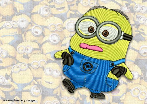 The embroidery design minion Cool Jerry