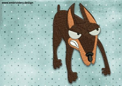 The embroidery design Cool dog doberman was created by EmbroSoft
