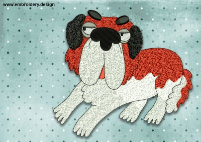 The embroidery design Cool St. Bernard Dog was created by EmbroSoft