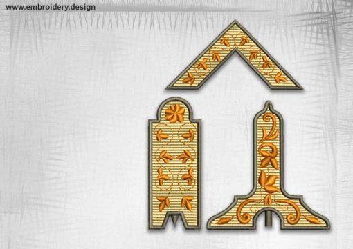 The qualitative embroidery design Creative masonic tools