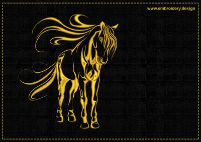 The embroidery design Cute horse