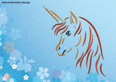 The embroidery design Cute Unicorn