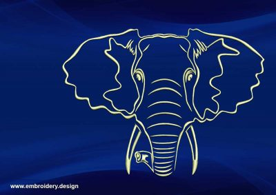 The embroidery design Cute elephant Jamel