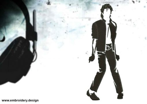 The embroidery design Dancing Michael Jackson