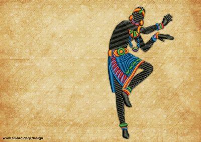 The embroidery design Dancing man will look great on any apparel