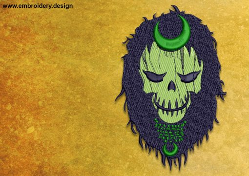 The embroidery design Enchantress from the Suicide Squad