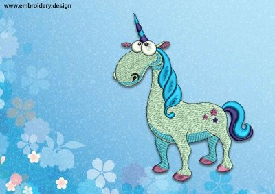 The embroidery design Fairy Unicorn