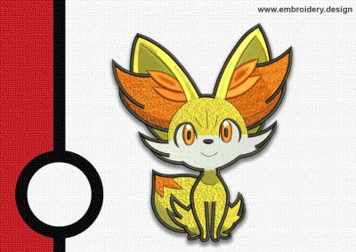 The embroidery design Fennekin pokemon