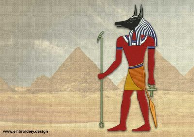 The embroidery design Formidable Anubis