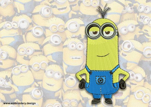 The embroidery design minion High Minded Mark