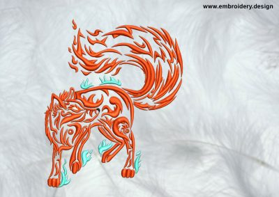 The high quality embroidery design Igneous fox