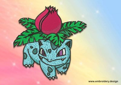The embroidery design Lvysaur pokemon