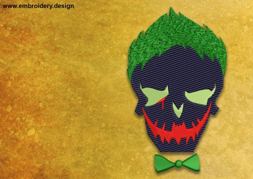 The embroidery design Joker from the Suicide Squad
