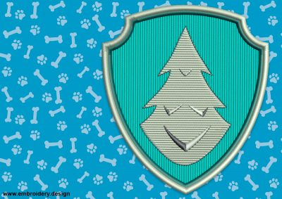 The embroidery design Logo of Everest from Paw Patrol privides in 3 sizes