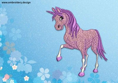 The embroidery design Lovely Unicorn