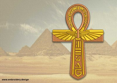 The embroidery design Magical Egyptian Cross Ankh