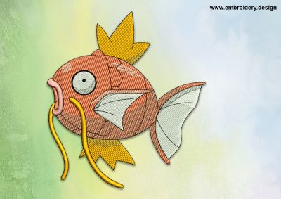 The embroidery design Magikarp Pokemon