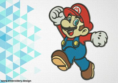 The embroidery design Super Mario will bring a lot of happiness to all fans of this game