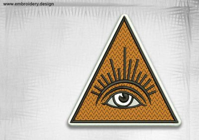 The qualitative embroidery design Masonic vision