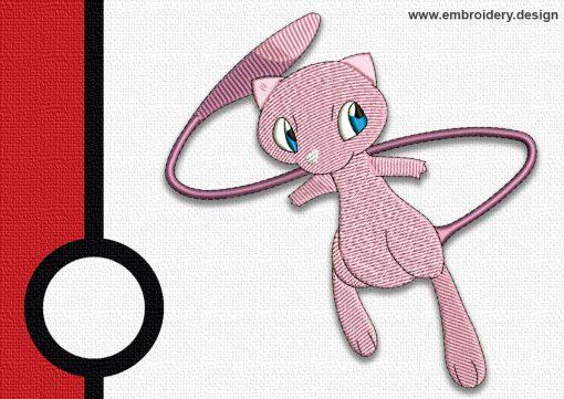 The embroidery design Mew pokemon