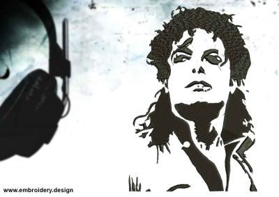 The embroidery design Sight of Michael Jackson