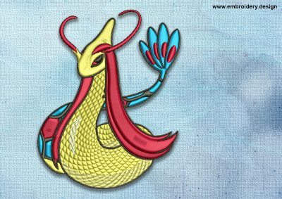 The embroidery design Milotic Pokemon