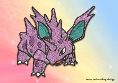 The embroidery design Nidorino pokemon
