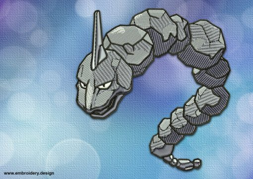 The embroidery design Onix Pokemon provides by EmbroSoft team