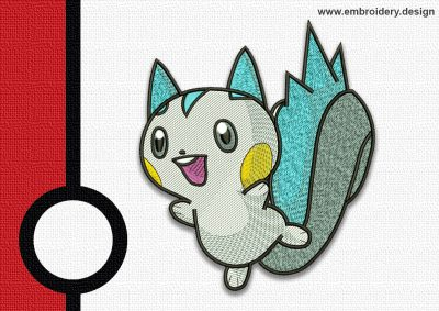 The embroidery design Pachirisu pokemo