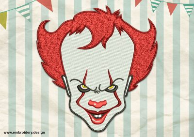 The embroidery design Pennywise the Dancing Clown was created in 8 emboidery formats by EmbroSoft team.