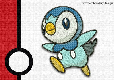 The embroidery design Piplup pokemon