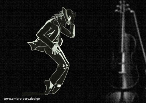 The embroidery design Popular Michael Jackson