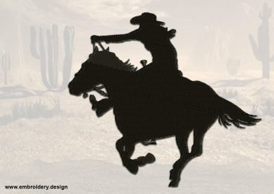 The embroidery design Quick Cowboy is simple for embroidering on any fabric