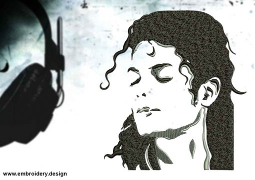 The embroidery design Relaxed Michael Jacksons
