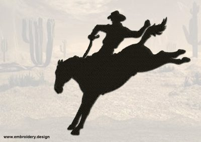 The embroidery design Rodeo Cowboy was digitized in EmbroSoft Studio