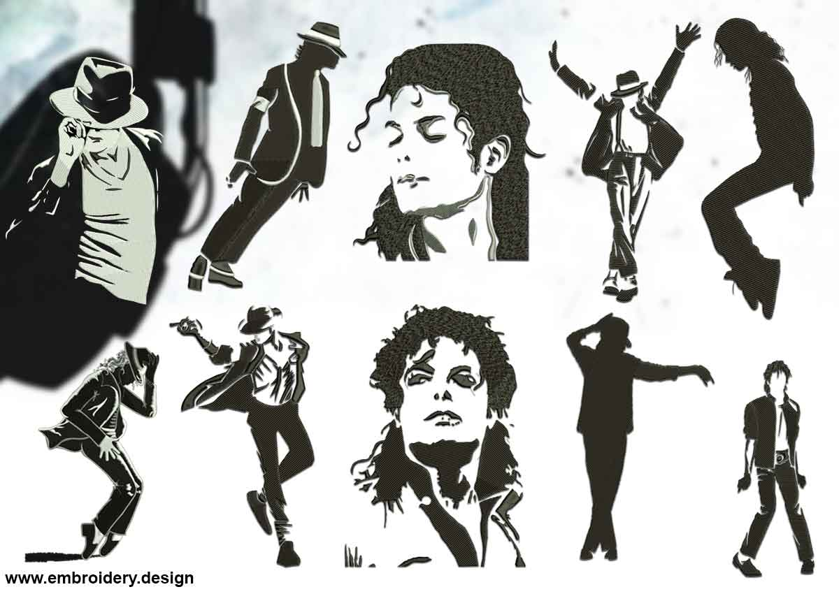 silhouettes of michael jackson