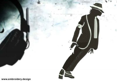 The embroidery design Stylish Michael Jackson